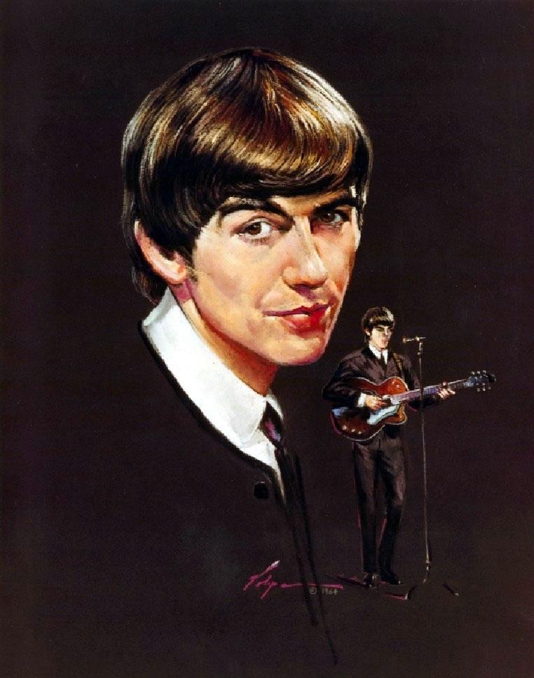 Nicholas Volpe's Portrait Painting of George Harrison