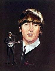 Nicholas Volpe's Portrait Painting of John Lennon