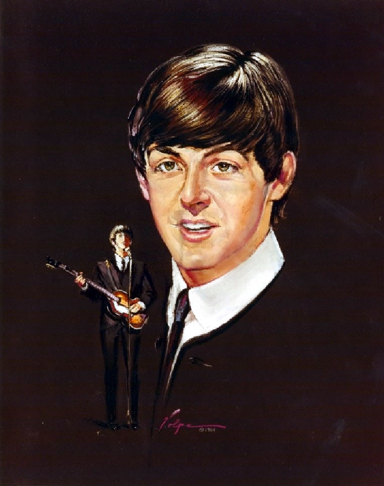 Nicholas Volpe's Portrait Painting of Paul McCartney