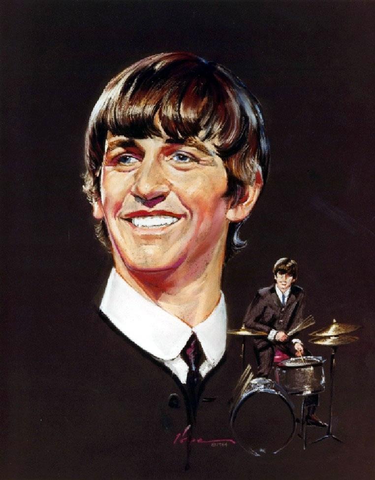 Nicholas Volpe's Portrait Painting of Ringo Starr